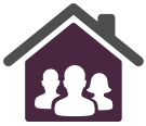 people in house icon